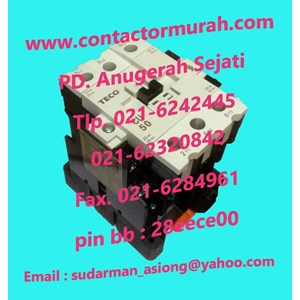 From Type CU50 contactor magnetic TECO 3