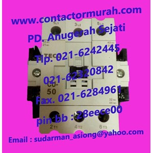 From Type CU50 contactor magnetic TECO 1