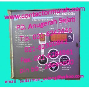From TM-8200s 240VAC DELAB earth fault relay 0