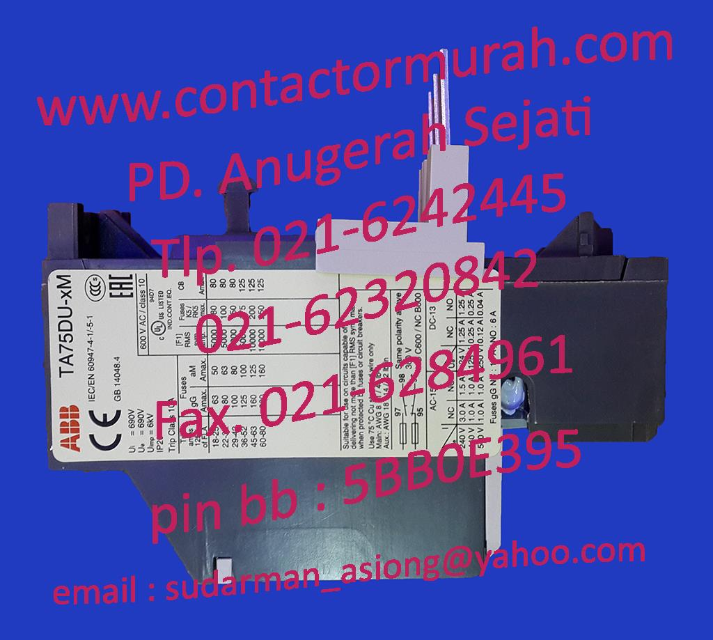 Sell Overload Relay Abb Ta75du 32m From Indonesia By Pd Anugerah Solid State Sejaticheap Price