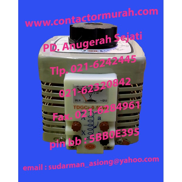 tipe TDGC2-500 OKI voltage regulator