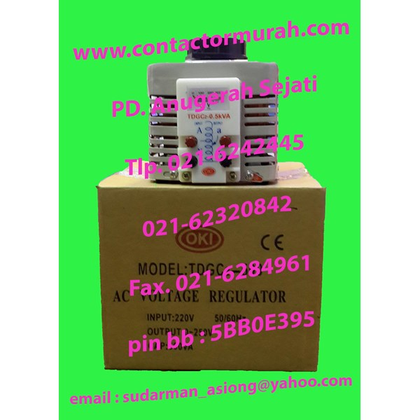 OKI TDGC2-500 voltage regulator 500VA