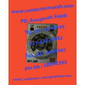 From Fotek type MY-3M-2P relay timer 7A 1