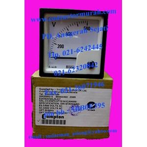 Crompton tipe E24302VGSJSJC7 voltmeter 600V