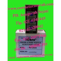 Jual under over voltage relay MX 200A 2