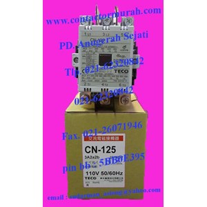 tipe CN-125 Teco kontaktor magnetik