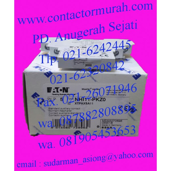 auxiliary kontak tipe NHI11-PKZ0 eaton 5A
