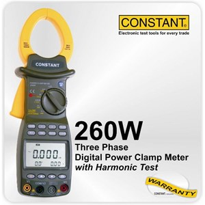 Constant 260W Three Phase Digital Power Clamp Meter
