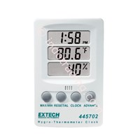 Distributor Extech 445702 Hygro-Thermometer With Clock 3