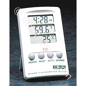 Extech 445702 Hygro-Thermometer With Clock