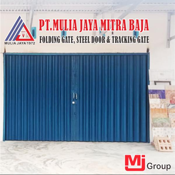 Folding Gate Standar Biru Mulia Jaya Mitra Baja