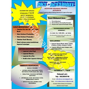 Jasa Akuntansi - Penyusunan Laporan Keuangan Di Jakarta Timur By PT  Akt Accurate