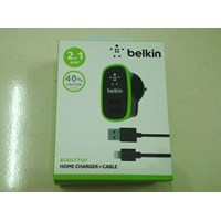 BELK-008 Belkin 2Port Home Charger + Iphone5 Cable (2 in 1). 1