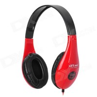 Jual Ditmo DM 4700 Stereo Headset Headphones Red Black 2