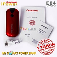 Power bank Changhong E04 4200Mah garansi resmi 1 tahun ganti baru 1