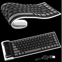 KBBT-002 Bluetooth Flexible Keyboard Mini Foldable Murah 5