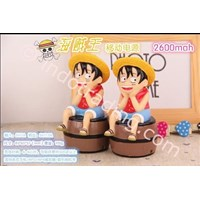 Powerbank Cartoon 3D Luffy Onepiece 3200Ma Murah 5