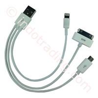 Beli Usb Kabel Data 3 In 1 Microusb (Bb) Lightning (Iphone5 Ipad4 Ipad Mini) Apple 30Pin (Iphone4 Ipad3)  4