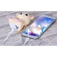 Jual Powerbank 3D Cartoon Rilakkuma 3200Ma 2