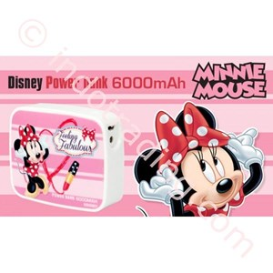 Powerbank Disney Original 6000Ma Minnie Mouse