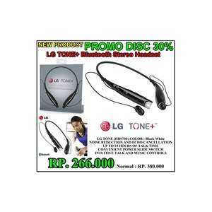 LG TONE + Bluetooth Stereo Headset