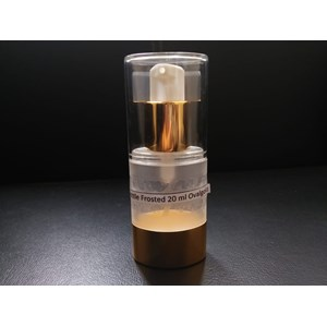 BOTTLE FROSTED 20 ML OVAL GOLD