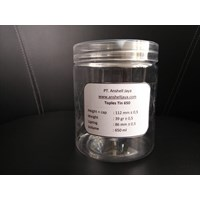 JAR PLASTIC TIN 650 ML