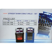 Straight Shank Cobalt Drills Set