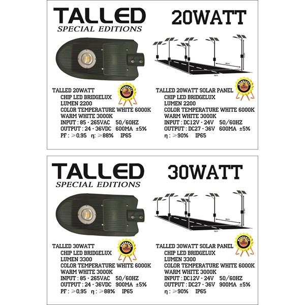 Lampu LED 20 & 30 Watt ( AC & DC )
