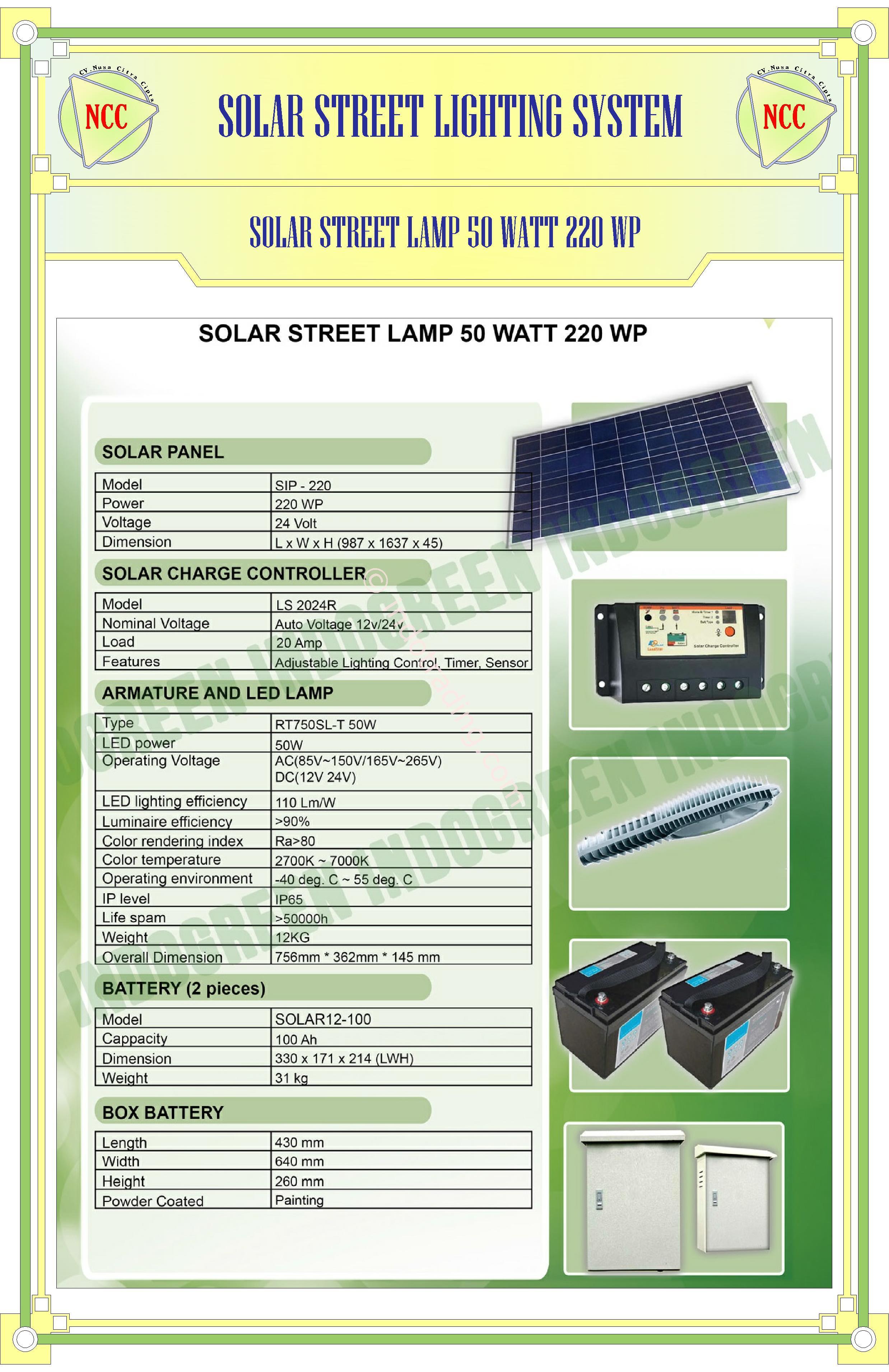 jual paket pju solar cell 50 watt tenaga surya harga murah