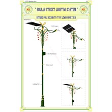Antique Pole Siak Solar Cell System