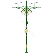 Decorative Antiques Pole Type Double Solar Cell Du