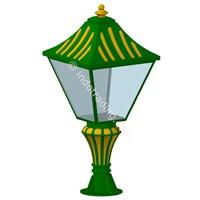 Lampu Pilar Antik Type Tulip T.90.Cm 1