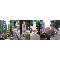 Pembuatan dan Pemasangan Vertical Banner Round Tag Umbul Umbul Semarang By Harapan Media Advertising