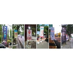 Pembuatan dan Pemasangan Vertical Banner Round Tag Umbul Umbul Semarang By CV Harapan Media Advertising