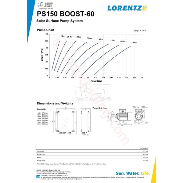 Pompa Surface Lorentz Ps150 Boost-60
