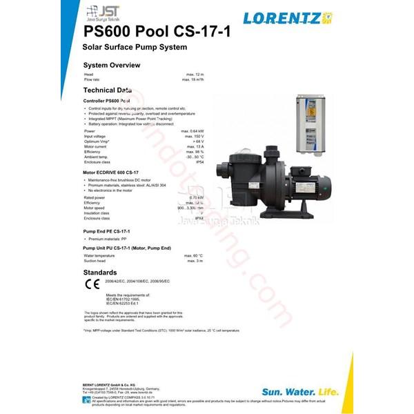 Pompa Surface Lorentz Ps600 Pool Cs-17-1