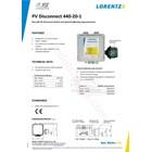 Pv Disconnect 440-20-1 Lorentz  2