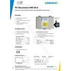 Pv Disconnect 440-20-6 Lorentz 2