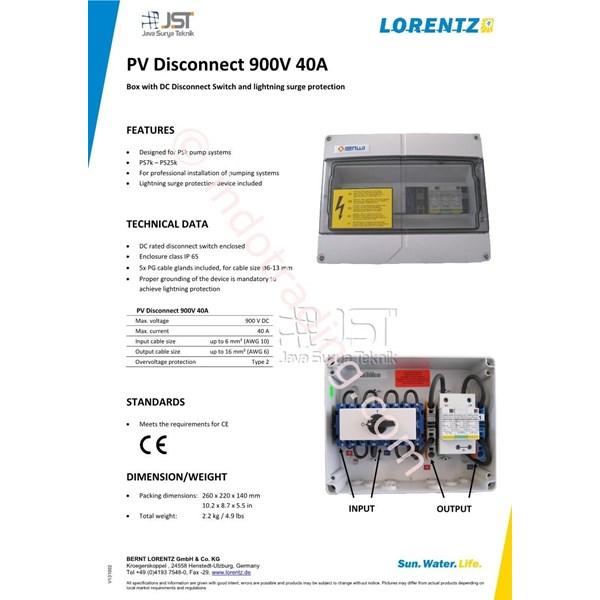 Pv Disconnect 900V 40A Lorentz