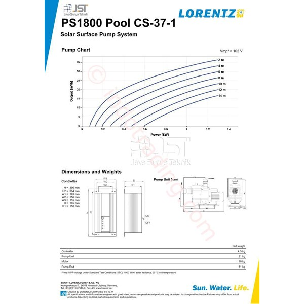 Pompa Surface Lorentz Ps1800 Pool Cs-37-1