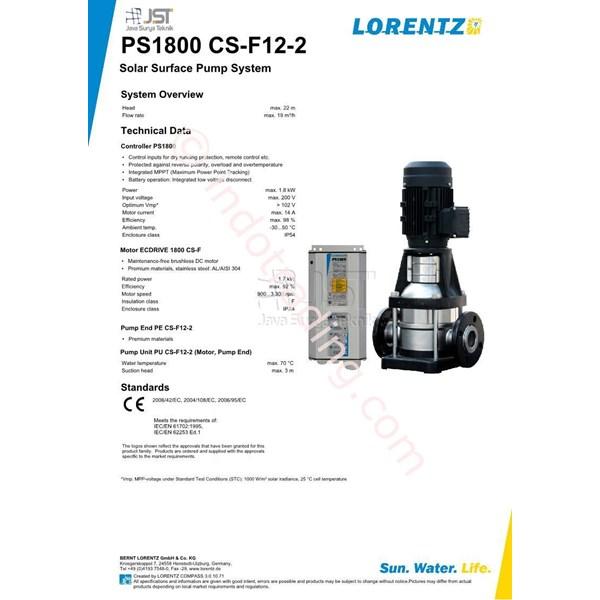 Pompa Surface Lorentz Ps1800 Cs-F12-2