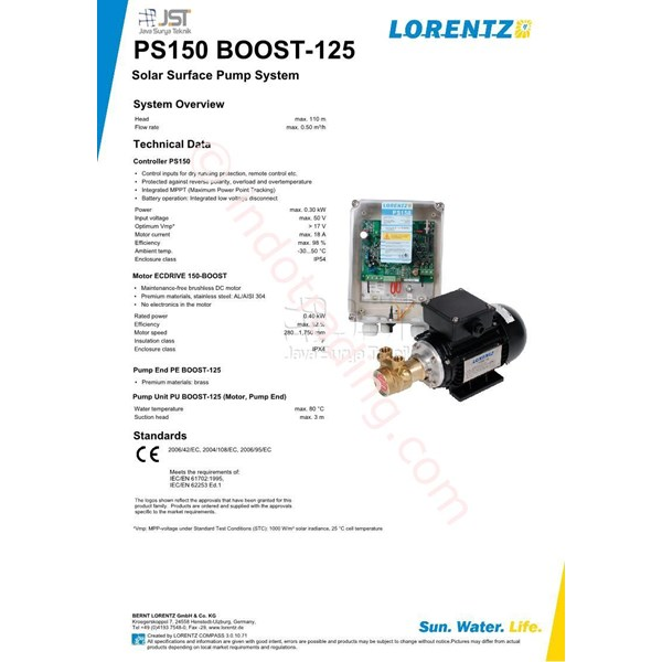 Pompa Surface Lorentz Ps150 Boost-125