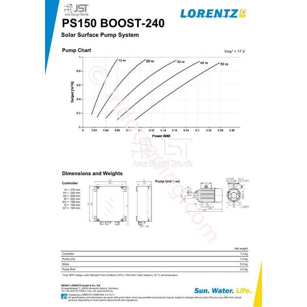 Pompa Surface Lorentz Ps150 Boost-240