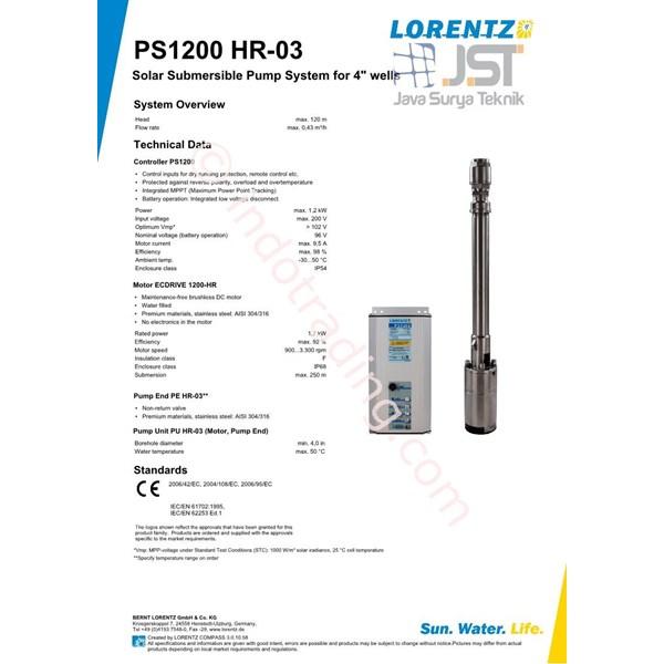 Pompa Submersible Lorentz Ps1200 Hr-03
