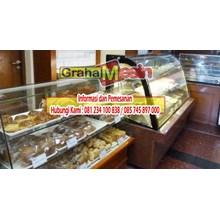 cake showcase mesin untuk memajang kue tart dan kue