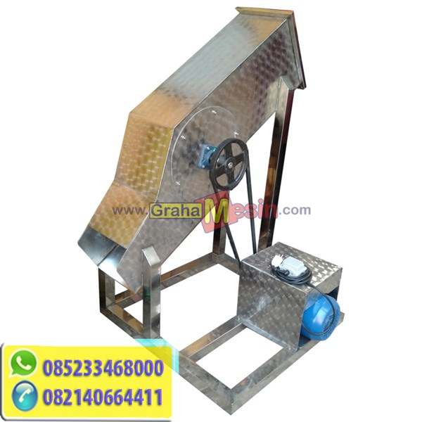 Mesin Ice Block Crusher Stainless Lokal Sederhana