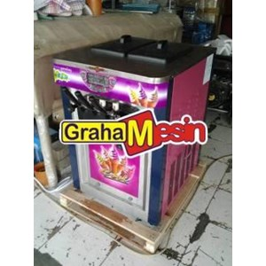 Mesin Produksi Es Krim Alat Ice Cream Maker 2 Rasa Mix