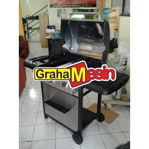 Mesin Side Burner Daging Barbeque Pemanggang Daging
