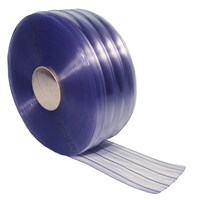 PVC Strip Curtain Ribbed 1